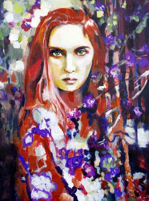 Stephanie Nückel   Morgain    80 x 60 cm    Acryl auf Leinwand      2016 (sold)