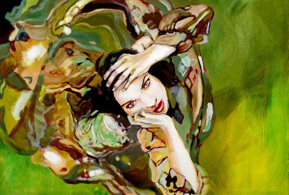 Stephanie Nückel    Above   90 x 130 cm    Acryl auf Leinwand      2016 (sold)