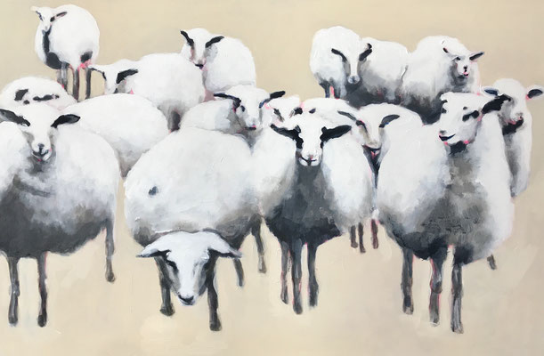 Stephanie Nückel No black sheeps  120 x 80 cm Acryl auf Leinwand 2019 für S.T.