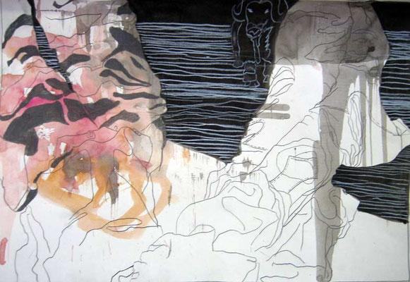 9   Acryl on paper    41 x 60 cm  2013