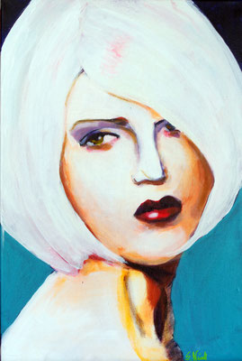 Stephanie Nückel    Mace   60 x40 cm    Acryl auf Leinwand      2016 (sold)