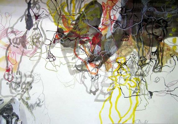 8    Acryl on paper    41 x 60 cm  2013