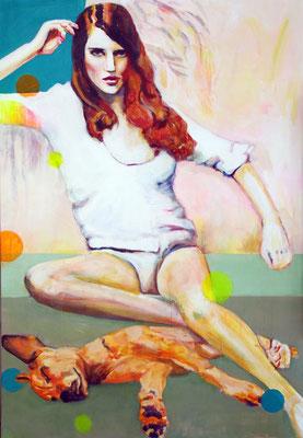 Be my dog   130 x 90 cm    Acryl auf Leinwand      2016