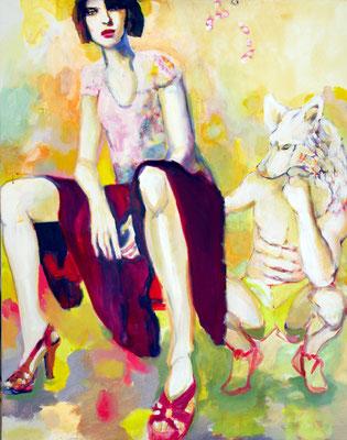 Stephanie Nückel    Who rules?  95 x 70 cm    Acryl auf Leinwand      2016