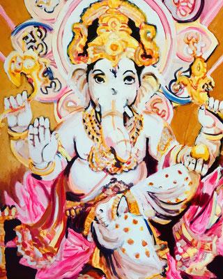 Ganesha    120 x 100 cm   (Geburtstagsgeschenk für meinen Liebsten)