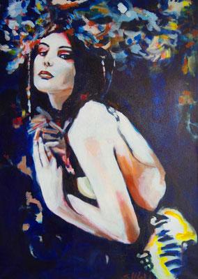 Stephanie Nückel     Salome  100 x 70 cm   Acryl auf Leinwand   2016 für A.F.