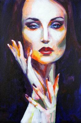 Stephanie Nückel   Onyx    60 x40 cm    Acryl auf Leinwand      2016