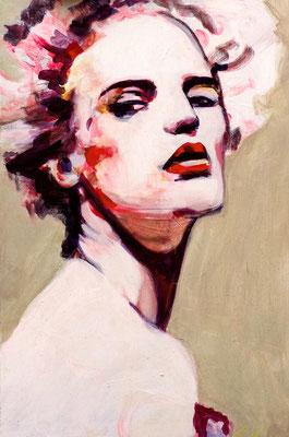 Stephanie Nückel    Christal   60 x40 cm    Acryl auf Leinwand      2016 (sold)