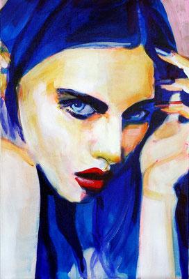 Stephanie Nückel    Maya   60 x40 cm    Acryl auf Leinwand      2016