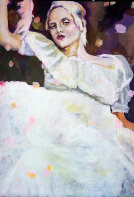 Stephanie Nückel   Serpahin  100 x 70 cm    Acryl auf Leinwand      2016