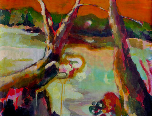 Elbe I  Acryl on paper   64 x 49 cm   2014