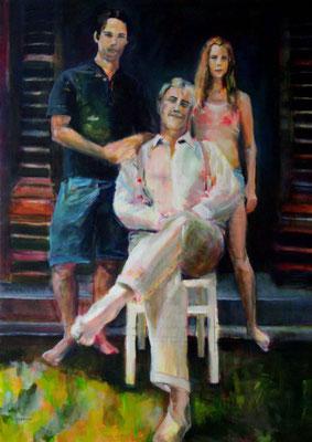 Stephanie Nückel     Family  160 x 120 cm   Acryl auf Leinwand    2012 für R.N.