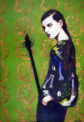 Stephanie Nückel   Paper my wall   130 x 90 cm    Acryl auf Leinwand      2016 (sold)