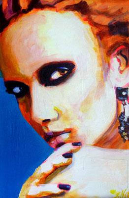 Stephanie Nückel   Mohna    60 x40 cm    Acryl auf Leinwand      2016