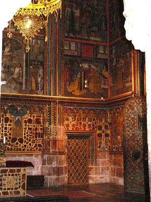 vstup do Korunní komory z kaple sv. Václava