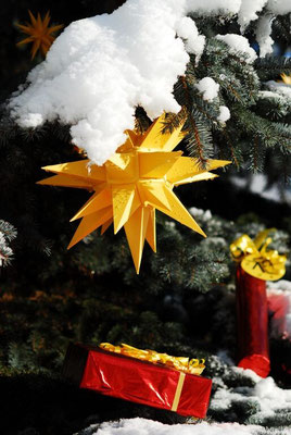 Herrnhuter Stern Weihnachtsdeko Deko Geschenke Kunsthandwerk Klapp-Lädchen Rodgau