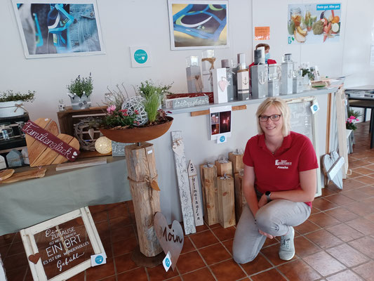 Anneke Manzke von den Jungen LF präsentierte ihre schöne Holzdeko