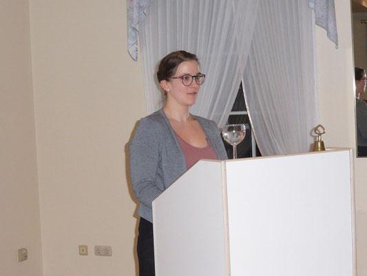 Lena Haase berichtet über die Aktivitäten der Jungen LandFrauen