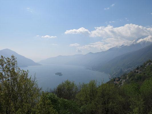 Blick auf den Lago Maggiore vom benachbarten Hügel