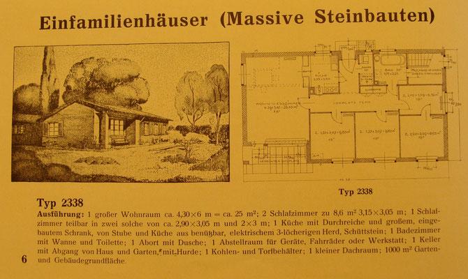 Zum Vergleich der Bauplan aus einer Broschüre (1933)