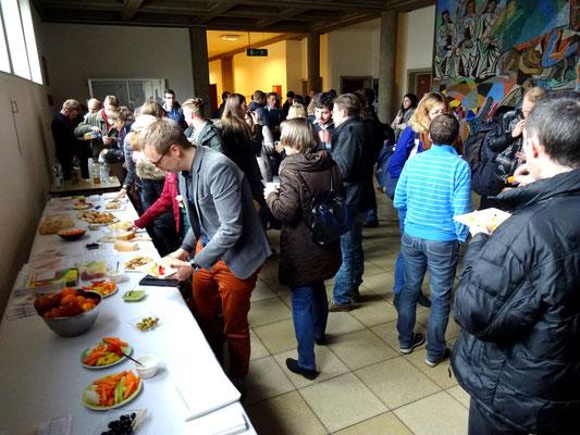 Das vegetarische Buffet nach dem Vortrag zur Tierethik