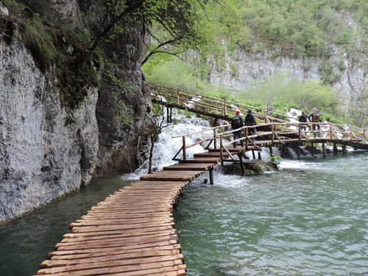Die Wege direkt am Wasser