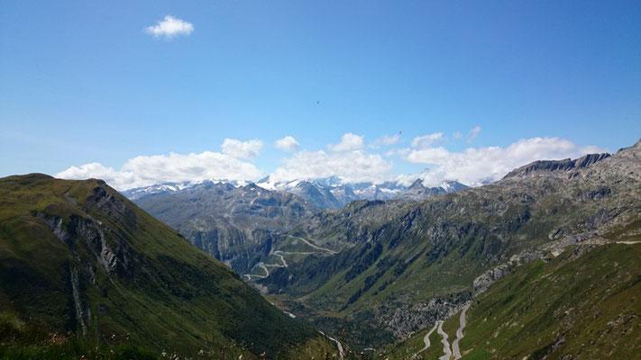 Aussicht vom Furka Pass aus