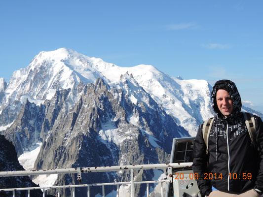 Marco vor dem Mont Blanc