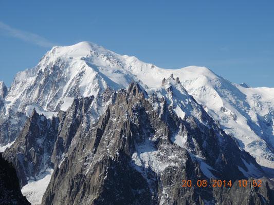 Wieder der Mont Blanc im Hintergrund