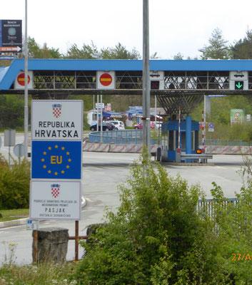 Die Grenze zu Kroatien