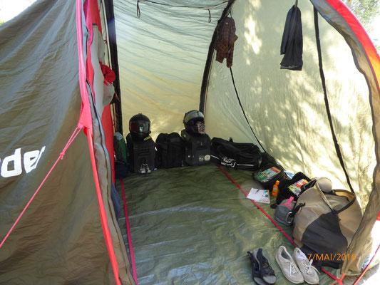 Da herrscht Ordnung im Zelt!