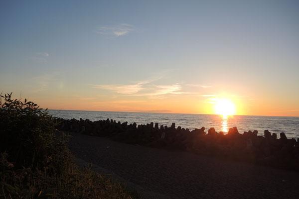 Wunderbarer Sonnenuntergang am Meer