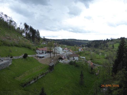 Die Aussicht von der Burg aus, guter Überblick und schwer einzunehmen