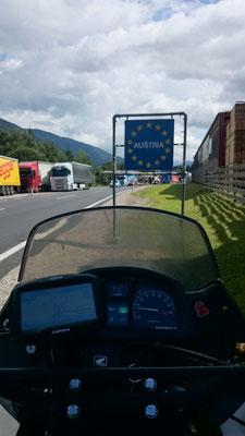 Bevor es zum Großglockner geht, erstmal in Österreich einreisen