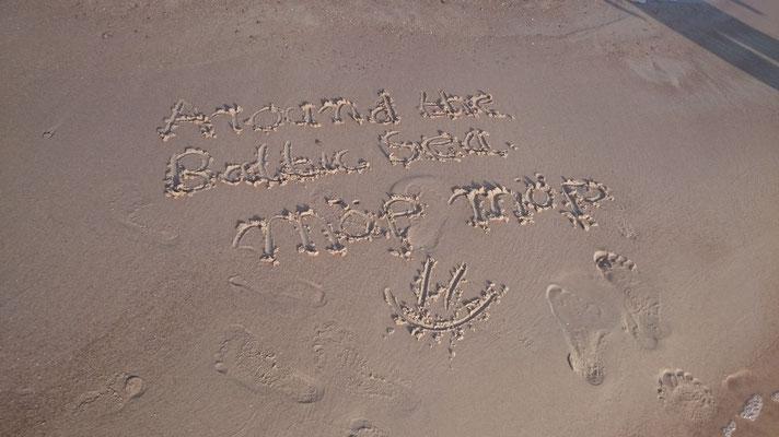 Das hat mein Schatz wunderschön in den Sand gemalt :)