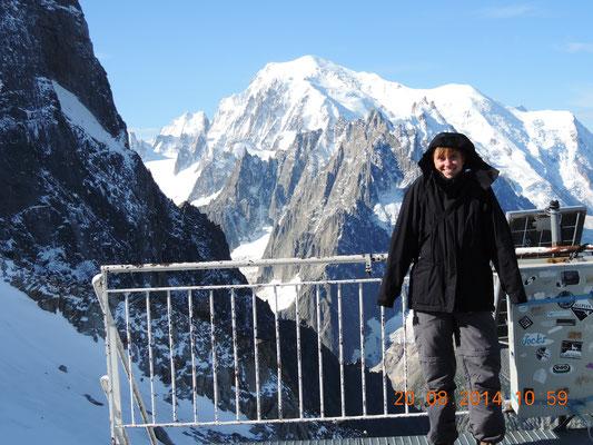 Ich zitternd aber fröhlich auch vor dem Mont Blanc