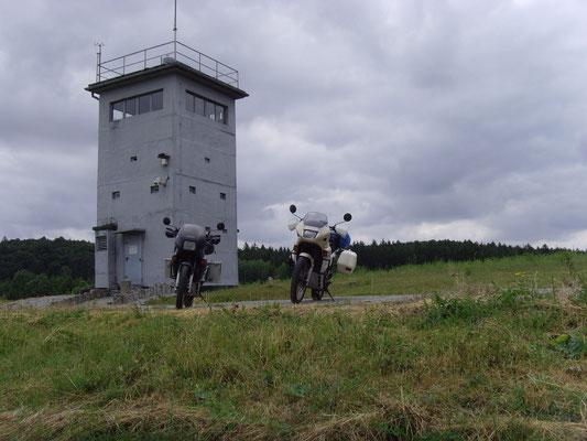 An einem Grenzposten in Deutschland