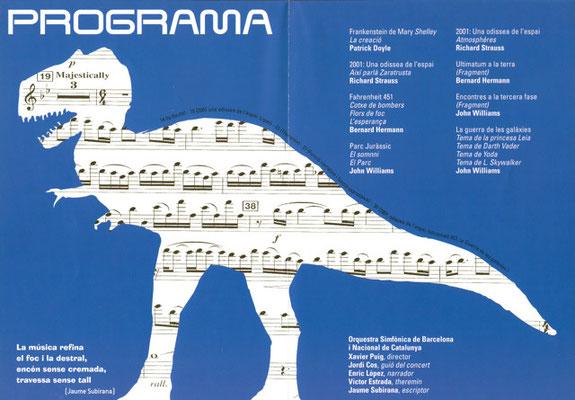"""Programa de mano """"Música de películas de ciencia ficción"""""""