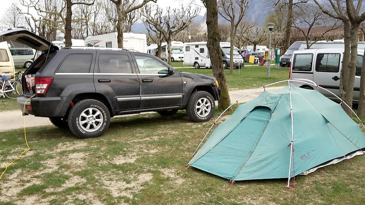 Lago di Mergozzo Continental Camping Village wolf78 4x4 offroad Jeep Grand Cherokee WH overland expedition offroad
