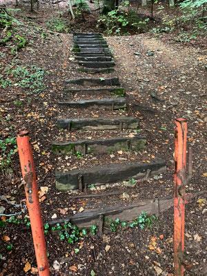 So sah die Treppe vorher aus