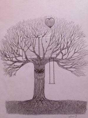 Tree of Wisdom / Graphit A3