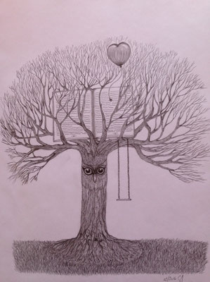 Tree of Wisdom / Graphit A3