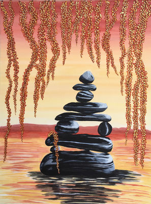 Zen Stones / Canvas Sheet 38x46cm