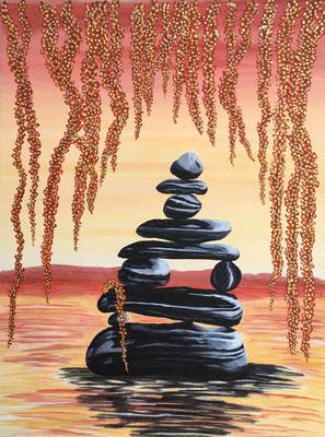 Zen Stones / Canvas Sheet 38x46cm
