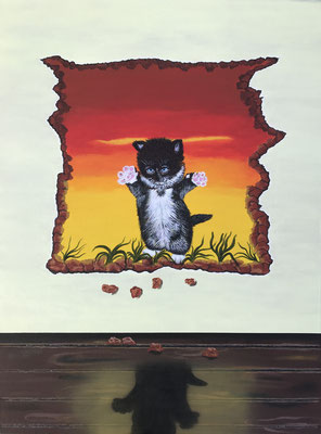 Yes! I'm Supercat!! / Canvas Sheet 45.7x61cm