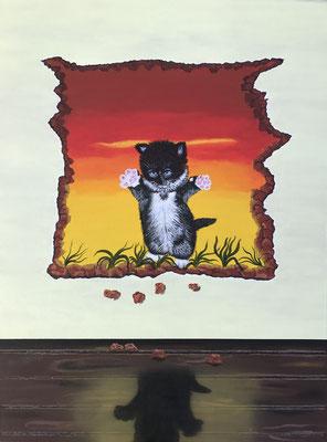 Yes! I'm Supercat!! / Canvas Sheet 45.7x61cm