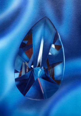 Blue Crystal / Cardboard 25.3x36.3cm