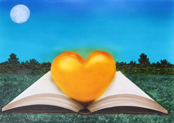 The Book of Love / Airbrush on Airbrush Paper 35x50cm