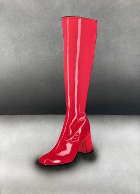 Red Boot / Cardboard 25.3x36.3cm