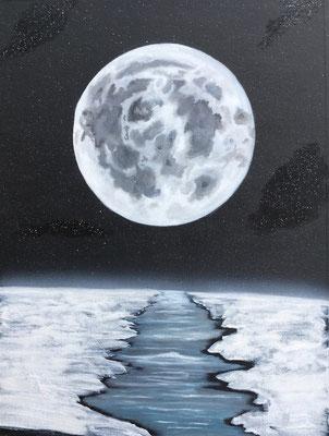 Cold Moon / Canvas Sheet 36x48cm